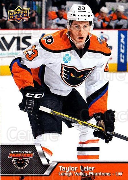 2014-15 Upper Deck AHL #18 Taylor Leier<br/>3 In Stock - $1.00 each - <a href=https://centericecollectibles.foxycart.com/cart?name=2014-15%20Upper%20Deck%20AHL%20%2318%20Taylor%20Leier...&quantity_max=3&price=$1.00&code=682167 class=foxycart> Buy it now! </a>