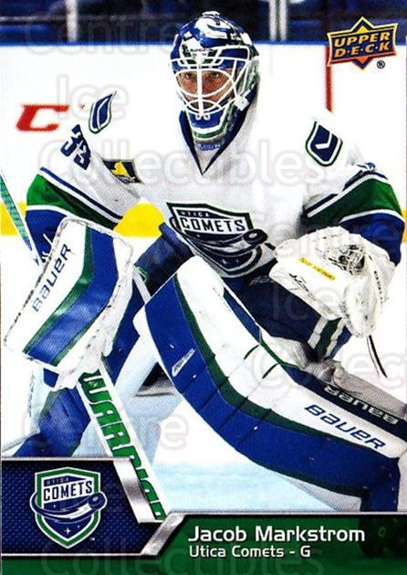 2014-15 Upper Deck AHL #57 Jacob Markstrom<br/>3 In Stock - $1.00 each - <a href=https://centericecollectibles.foxycart.com/cart?name=2014-15%20Upper%20Deck%20AHL%20%2357%20Jacob%20Markstrom...&quantity_max=3&price=$1.00&code=682206 class=foxycart> Buy it now! </a>