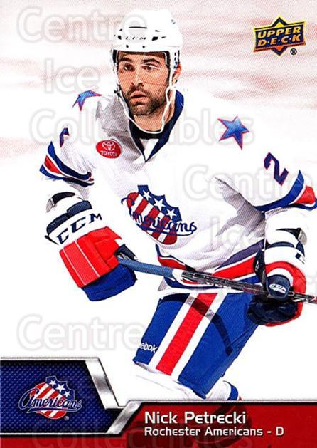 2014-15 Upper Deck AHL #59 Nick Petrecki<br/>4 In Stock - $1.00 each - <a href=https://centericecollectibles.foxycart.com/cart?name=2014-15%20Upper%20Deck%20AHL%20%2359%20Nick%20Petrecki...&quantity_max=4&price=$1.00&code=682208 class=foxycart> Buy it now! </a>