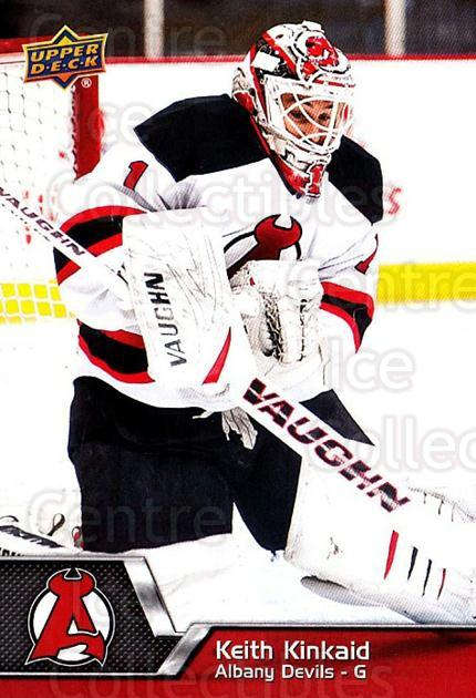 2014-15 Upper Deck AHL #62 Keith Kinkaid<br/>2 In Stock - $1.00 each - <a href=https://centericecollectibles.foxycart.com/cart?name=2014-15%20Upper%20Deck%20AHL%20%2362%20Keith%20Kinkaid...&quantity_max=2&price=$1.00&code=682211 class=foxycart> Buy it now! </a>