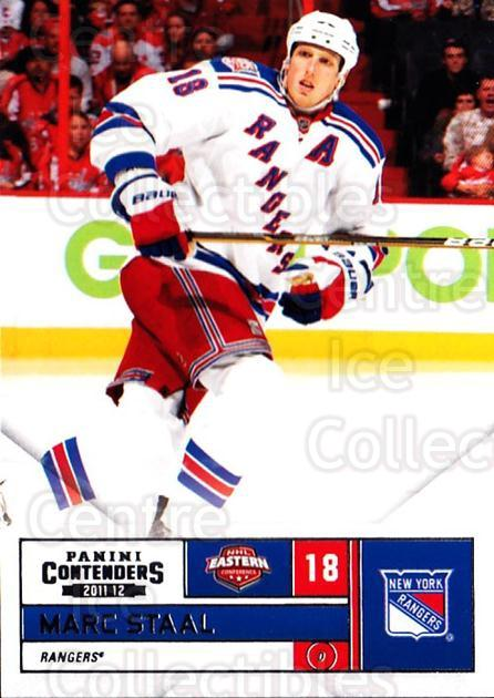 2011-12 Panini Contenders #18 Marc Staal<br/>2 In Stock - $1.00 each - <a href=https://centericecollectibles.foxycart.com/cart?name=2011-12%20Panini%20Contenders%20%2318%20Marc%20Staal...&quantity_max=2&price=$1.00&code=682817 class=foxycart> Buy it now! </a>