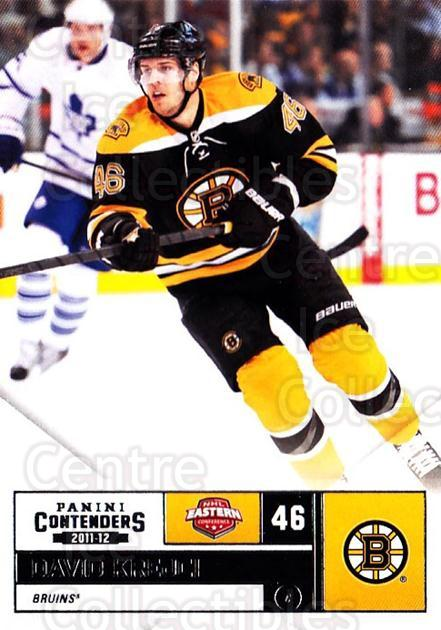 2011-12 Panini Contenders #46 David Krejci<br/>2 In Stock - $1.00 each - <a href=https://centericecollectibles.foxycart.com/cart?name=2011-12%20Panini%20Contenders%20%2346%20David%20Krejci...&quantity_max=2&price=$1.00&code=682845 class=foxycart> Buy it now! </a>