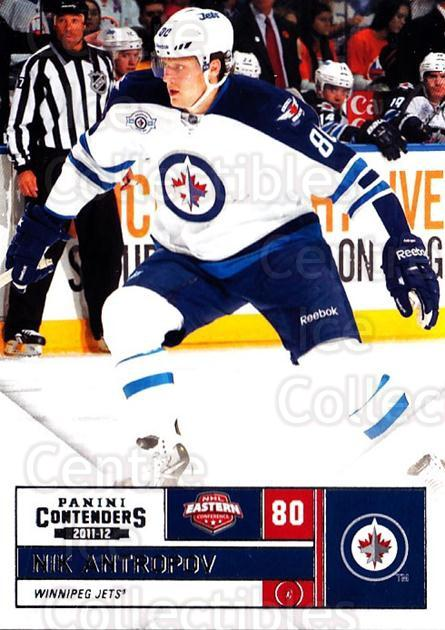 2011-12 Panini Contenders #80 Nik Antropov<br/>4 In Stock - $1.00 each - <a href=https://centericecollectibles.foxycart.com/cart?name=2011-12%20Panini%20Contenders%20%2380%20Nik%20Antropov...&quantity_max=4&price=$1.00&code=682879 class=foxycart> Buy it now! </a>
