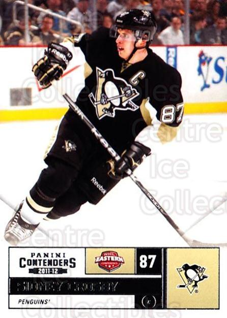 2011-12 Panini Contenders #87 Sidney Crosby<br/>4 In Stock - $3.00 each - <a href=https://centericecollectibles.foxycart.com/cart?name=2011-12%20Panini%20Contenders%20%2387%20Sidney%20Crosby...&quantity_max=4&price=$3.00&code=682886 class=foxycart> Buy it now! </a>