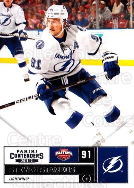 2011-12 Panini Contenders #91 Steven Stamkos<br/>2 In Stock - $1.00 each - <a href=https://centericecollectibles.foxycart.com/cart?name=2011-12%20Panini%20Contenders%20%2391%20Steven%20Stamkos...&price=$1.00&code=682890 class=foxycart> Buy it now! </a>