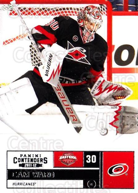 2011-12 Panini Contenders #95 Cam Ward<br/>2 In Stock - $1.00 each - <a href=https://centericecollectibles.foxycart.com/cart?name=2011-12%20Panini%20Contenders%20%2395%20Cam%20Ward...&price=$1.00&code=682894 class=foxycart> Buy it now! </a>