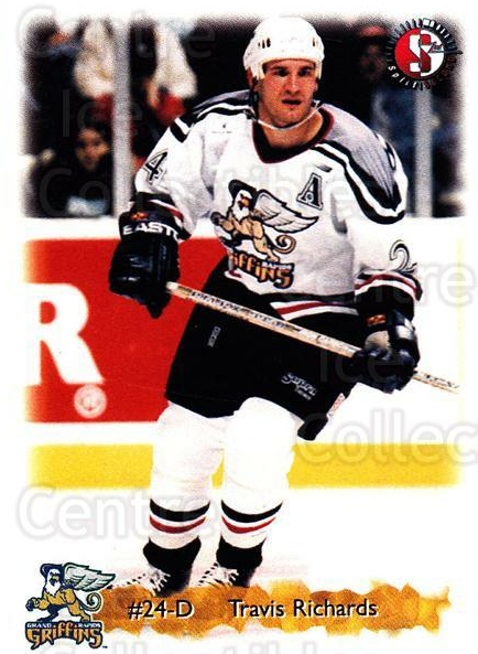 1998-99 Grand Rapids Griffins #16 Travis Richards<br/>4 In Stock - $3.00 each - <a href=https://centericecollectibles.foxycart.com/cart?name=1998-99%20Grand%20Rapids%20Griffins%20%2316%20Travis%20Richards...&price=$3.00&code=68289 class=foxycart> Buy it now! </a>
