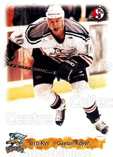 1998-99 Grand Rapids Griffins #17 Gaetan Royer<br/>3 In Stock - $3.00 each - <a href=https://centericecollectibles.foxycart.com/cart?name=1998-99%20Grand%20Rapids%20Griffins%20%2317%20Gaetan%20Royer...&price=$3.00&code=68290 class=foxycart> Buy it now! </a>