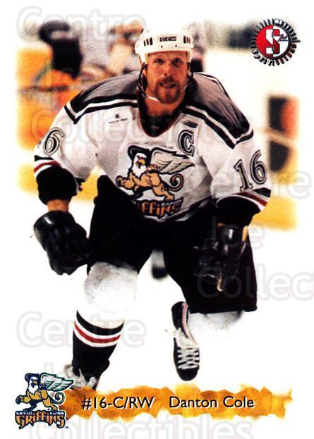 1998-99 Grand Rapids Griffins #6 Danton Cole<br/>4 In Stock - $3.00 each - <a href=https://centericecollectibles.foxycart.com/cart?name=1998-99%20Grand%20Rapids%20Griffins%20%236%20Danton%20Cole...&price=$3.00&code=68301 class=foxycart> Buy it now! </a>