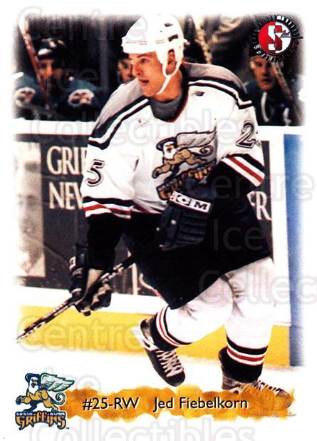1998-99 Grand Rapids Griffins #7 Jed Fiebelkorn<br/>3 In Stock - $3.00 each - <a href=https://centericecollectibles.foxycart.com/cart?name=1998-99%20Grand%20Rapids%20Griffins%20%237%20Jed%20Fiebelkorn...&quantity_max=3&price=$3.00&code=68302 class=foxycart> Buy it now! </a>