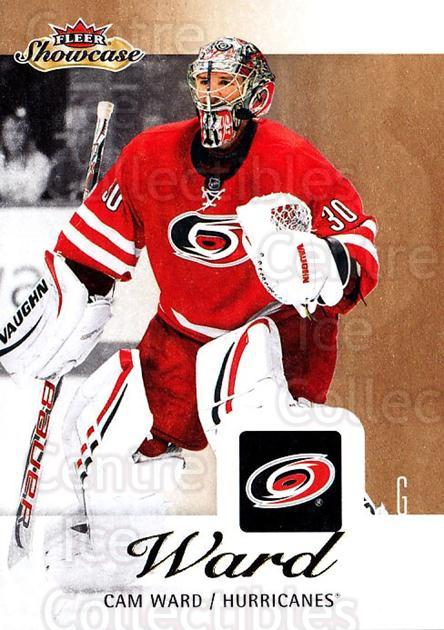 2013-14 Fleer Showcase #14 Cam Ward<br/>3 In Stock - $1.00 each - <a href=https://centericecollectibles.foxycart.com/cart?name=2013-14%20Fleer%20Showcase%20%2314%20Cam%20Ward...&price=$1.00&code=683244 class=foxycart> Buy it now! </a>