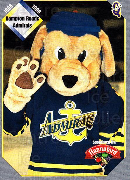 1998-99 Hampton Roads Admirals #1 Mascot, Checklist<br/>1 In Stock - $3.00 each - <a href=https://centericecollectibles.foxycart.com/cart?name=1998-99%20Hampton%20Roads%20Admirals%20%231%20Mascot,%20Checkli...&quantity_max=1&price=$3.00&code=68324 class=foxycart> Buy it now! </a>