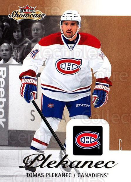 2013-14 Fleer Showcase #46 Tomas Plekanec<br/>6 In Stock - $1.00 each - <a href=https://centericecollectibles.foxycart.com/cart?name=2013-14%20Fleer%20Showcase%20%2346%20Tomas%20Plekanec...&quantity_max=6&price=$1.00&code=683276 class=foxycart> Buy it now! </a>