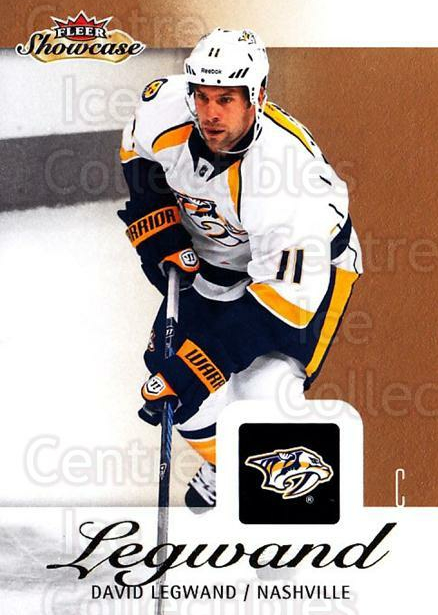 2013-14 Fleer Showcase #52 David Legwand<br/>6 In Stock - $1.00 each - <a href=https://centericecollectibles.foxycart.com/cart?name=2013-14%20Fleer%20Showcase%20%2352%20David%20Legwand...&quantity_max=6&price=$1.00&code=683282 class=foxycart> Buy it now! </a>
