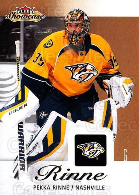 2013-14 Fleer Showcase #53 Pekka Rinne<br/>5 In Stock - $1.00 each - <a href=https://centericecollectibles.foxycart.com/cart?name=2013-14%20Fleer%20Showcase%20%2353%20Pekka%20Rinne...&quantity_max=5&price=$1.00&code=683283 class=foxycart> Buy it now! </a>