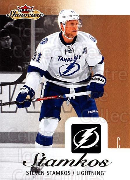 2013-14 Fleer Showcase #87 Steven Stamkos<br/>3 In Stock - $1.00 each - <a href=https://centericecollectibles.foxycart.com/cart?name=2013-14%20Fleer%20Showcase%20%2387%20Steven%20Stamkos...&price=$1.00&code=683317 class=foxycart> Buy it now! </a>