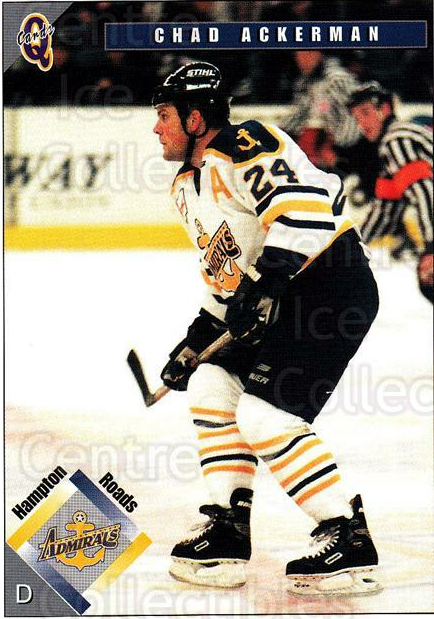 1998-99 Hampton Roads Admirals #17 Chad Ackerman<br/>3 In Stock - $3.00 each - <a href=https://centericecollectibles.foxycart.com/cart?name=1998-99%20Hampton%20Roads%20Admirals%20%2317%20Chad%20Ackerman...&quantity_max=3&price=$3.00&code=68331 class=foxycart> Buy it now! </a>