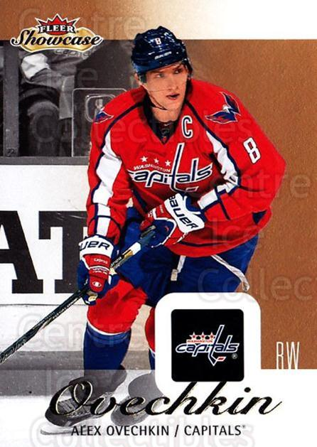 2013-14 Fleer Showcase #100 Alexander Ovechkin<br/>6 In Stock - $2.00 each - <a href=https://centericecollectibles.foxycart.com/cart?name=2013-14%20Fleer%20Showcase%20%23100%20Alexander%20Ovech...&price=$2.00&code=683330 class=foxycart> Buy it now! </a>