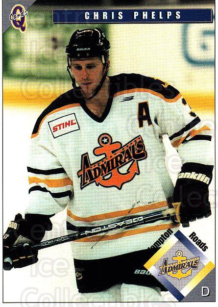 1998-99 Hampton Roads Admirals #4 Chris Phelps<br/>2 In Stock - $3.00 each - <a href=https://centericecollectibles.foxycart.com/cart?name=1998-99%20Hampton%20Roads%20Admirals%20%234%20Chris%20Phelps...&quantity_max=2&price=$3.00&code=68340 class=foxycart> Buy it now! </a>