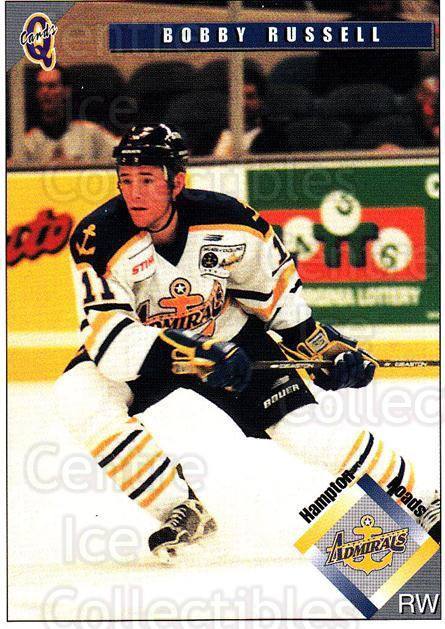 1998-99 Hampton Roads Admirals #9 Bobby Russell<br/>3 In Stock - $3.00 each - <a href=https://centericecollectibles.foxycart.com/cart?name=1998-99%20Hampton%20Roads%20Admirals%20%239%20Bobby%20Russell...&quantity_max=3&price=$3.00&code=68341 class=foxycart> Buy it now! </a>