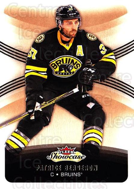 2015-16 Fleer Showcase #17 Patrice Bergeron<br/>2 In Stock - $2.00 each - <a href=https://centericecollectibles.foxycart.com/cart?name=2015-16%20Fleer%20Showcase%20%2317%20Patrice%20Bergero...&quantity_max=2&price=$2.00&code=683457 class=foxycart> Buy it now! </a>