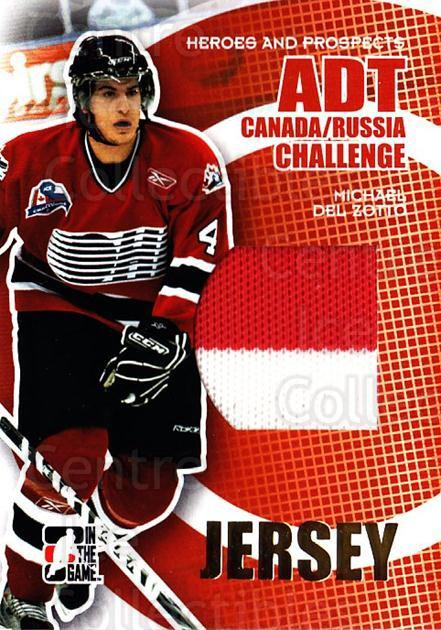 2008-09 ITG Heroes and Prospects Canada Russia Jersey Gold 1/1 #10 Michael Del Zotto<br/>1 In Stock - $50.00 each - <a href=https://centericecollectibles.foxycart.com/cart?name=2008-09%20ITG%20Heroes%20and%20Prospects%20Canada%20Russia%20Jersey%20Gold%201/1%20%2310%20Michael%20Del%20Zot...&quantity_max=1&price=$50.00&code=683665 class=foxycart> Buy it now! </a>