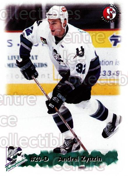 1998-99 Kentucky Thoroughblades #22 Andrei Zyuzin<br/>6 In Stock - $3.00 each - <a href=https://centericecollectibles.foxycart.com/cart?name=1998-99%20Kentucky%20Thoroughblades%20%2322%20Andrei%20Zyuzin...&quantity_max=6&price=$3.00&code=68414 class=foxycart> Buy it now! </a>