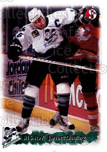1998-99 Kentucky Thoroughblades #6 Jarrett Deuling<br/>6 In Stock - $3.00 each - <a href=https://centericecollectibles.foxycart.com/cart?name=1998-99%20Kentucky%20Thoroughblades%20%236%20Jarrett%20Deuling...&quantity_max=6&price=$3.00&code=68421 class=foxycart> Buy it now! </a>
