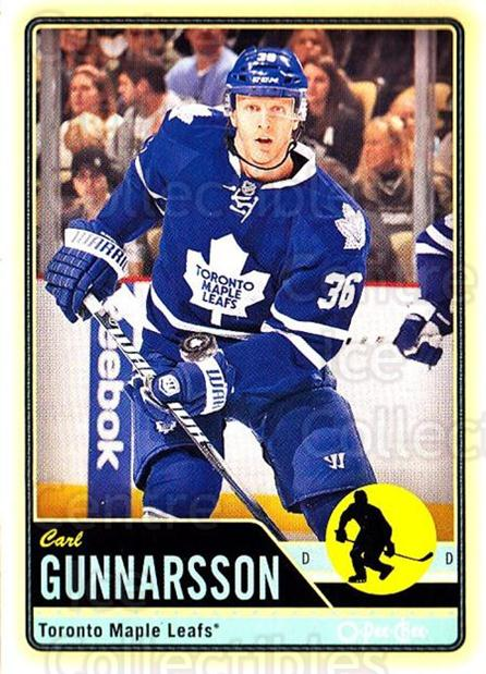 2012-13 O-pee-chee #41 Carl Gunnarsson<br/>2 In Stock - $1.00 each - <a href=https://centericecollectibles.foxycart.com/cart?name=2012-13%20O-pee-chee%20%2341%20Carl%20Gunnarsson...&quantity_max=2&price=$1.00&code=684511 class=foxycart> Buy it now! </a>