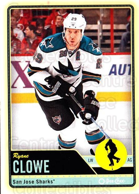 2012-13 O-pee-chee #86 Ryane Clowe<br/>2 In Stock - $1.00 each - <a href=https://centericecollectibles.foxycart.com/cart?name=2012-13%20O-pee-chee%20%2386%20Ryane%20Clowe...&quantity_max=2&price=$1.00&code=684556 class=foxycart> Buy it now! </a>