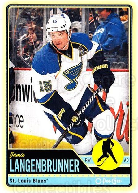 2012-13 O-pee-chee #218 Jamie Langenbrunner<br/>3 In Stock - $1.00 each - <a href=https://centericecollectibles.foxycart.com/cart?name=2012-13%20O-pee-chee%20%23218%20Jamie%20Langenbru...&quantity_max=3&price=$1.00&code=684688 class=foxycart> Buy it now! </a>