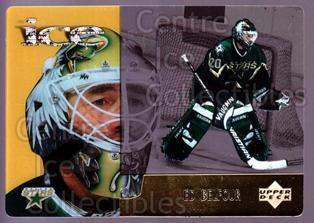 1998-99 McDonalds Upper Deck #21 Ed Belfour<br/>9 In Stock - $1.00 each - <a href=https://centericecollectibles.foxycart.com/cart?name=1998-99%20McDonalds%20Upper%20Deck%20%2321%20Ed%20Belfour...&quantity_max=9&price=$1.00&code=68475 class=foxycart> Buy it now! </a>