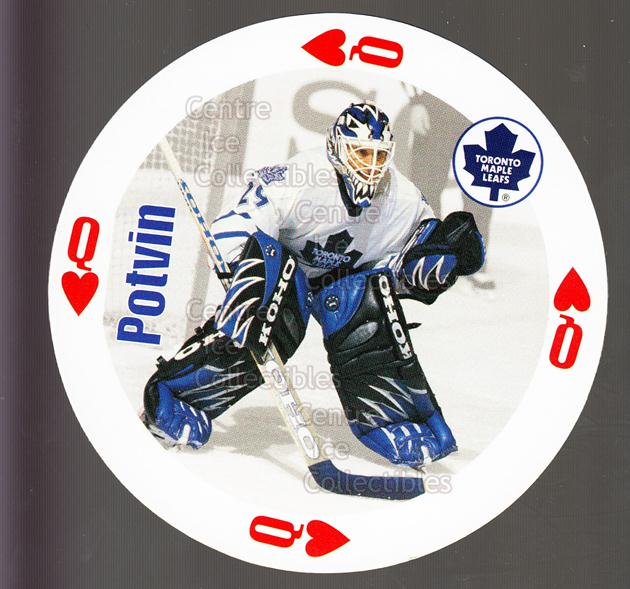 1998-99 NHL Aces Playing Card #12 Felix Potvin<br/>1 In Stock - $3.00 each - <a href=https://centericecollectibles.foxycart.com/cart?name=1998-99%20NHL%20Aces%20Playing%20Card%20%2312%20Felix%20Potvin...&quantity_max=1&price=$3.00&code=68491 class=foxycart> Buy it now! </a>