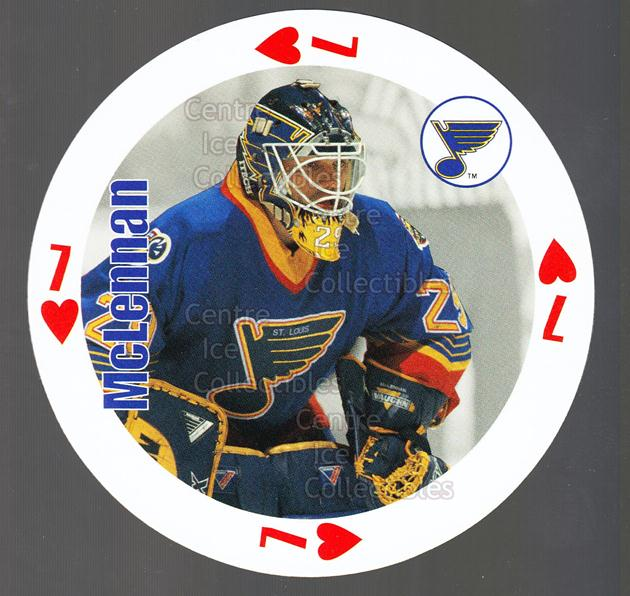 1998-99 NHL Aces Playing Card #7 Jamie McLennan<br/>7 In Stock - $2.00 each - <a href=https://centericecollectibles.foxycart.com/cart?name=1998-99%20NHL%20Aces%20Playing%20Card%20%237%20Jamie%20McLennan...&quantity_max=7&price=$2.00&code=68535 class=foxycart> Buy it now! </a>