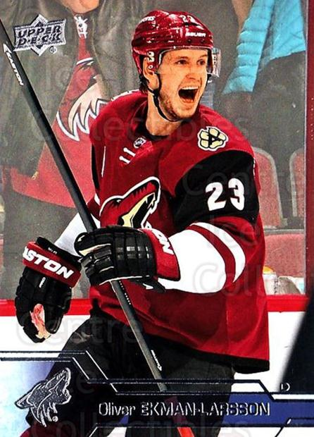 2016-17 Upper Deck #13 Oliver Ekman-Larsson<br/>11 In Stock - $1.00 each - <a href=https://centericecollectibles.foxycart.com/cart?name=2016-17%20Upper%20Deck%20%2313%20Oliver%20Ekman-La...&quantity_max=11&price=$1.00&code=685648 class=foxycart> Buy it now! </a>
