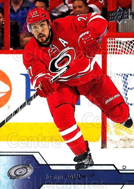 2016-17 Upper Deck #37 Justin Faulk<br/>17 In Stock - $1.00 each - <a href=https://centericecollectibles.foxycart.com/cart?name=2016-17%20Upper%20Deck%20%2337%20Justin%20Faulk...&quantity_max=17&price=$1.00&code=685672 class=foxycart> Buy it now! </a>