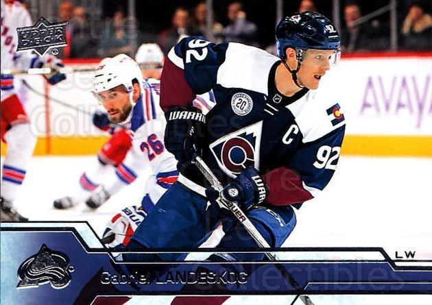 2016-17 Upper Deck #49 Gabriel Landeskog<br/>9 In Stock - $1.00 each - <a href=https://centericecollectibles.foxycart.com/cart?name=2016-17%20Upper%20Deck%20%2349%20Gabriel%20Landesk...&quantity_max=9&price=$1.00&code=685684 class=foxycart> Buy it now! </a>
