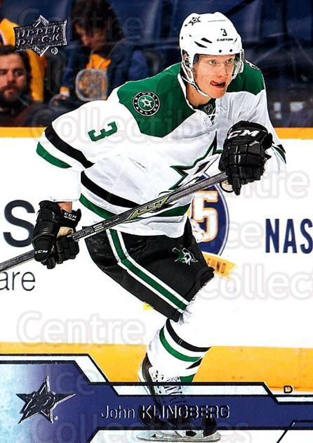 2016-17 Upper Deck #63 John Klingberg<br/>11 In Stock - $1.00 each - <a href=https://centericecollectibles.foxycart.com/cart?name=2016-17%20Upper%20Deck%20%2363%20John%20Klingberg...&quantity_max=11&price=$1.00&code=685698 class=foxycart> Buy it now! </a>