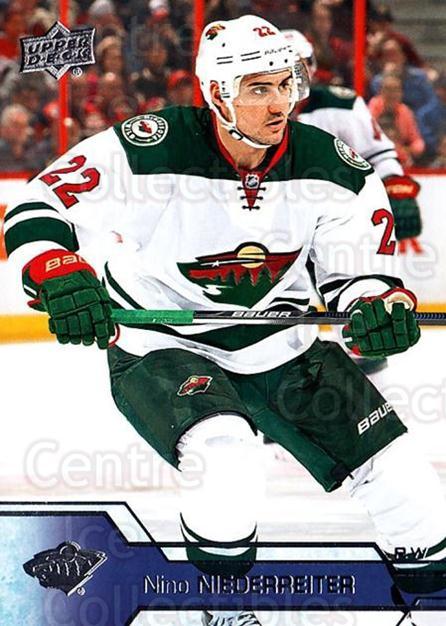 2016-17 Upper Deck #97 Nino Niederreiter<br/>16 In Stock - $1.00 each - <a href=https://centericecollectibles.foxycart.com/cart?name=2016-17%20Upper%20Deck%20%2397%20Nino%20Niederreit...&quantity_max=16&price=$1.00&code=685732 class=foxycart> Buy it now! </a>