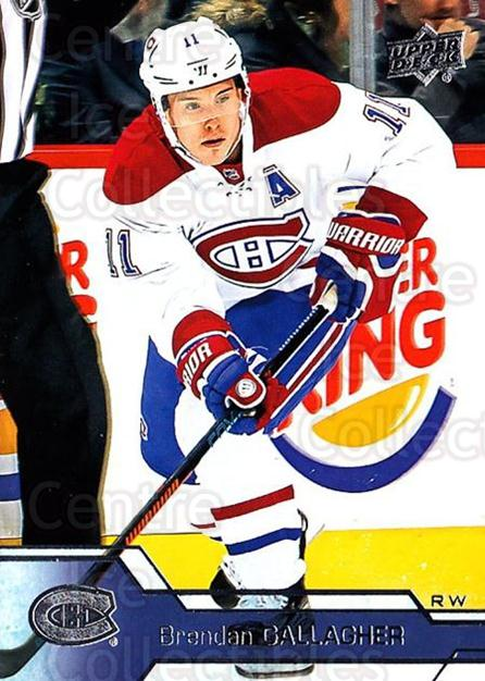 2016-17 Upper Deck #101 Brendan Gallagher<br/>16 In Stock - $1.00 each - <a href=https://centericecollectibles.foxycart.com/cart?name=2016-17%20Upper%20Deck%20%23101%20Brendan%20Gallagh...&quantity_max=16&price=$1.00&code=685736 class=foxycart> Buy it now! </a>