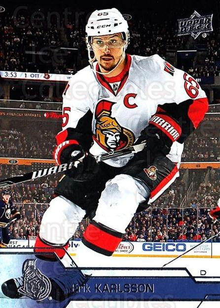 2016-17 Upper Deck #133 Erik Karlsson<br/>4 In Stock - $1.00 each - <a href=https://centericecollectibles.foxycart.com/cart?name=2016-17%20Upper%20Deck%20%23133%20Erik%20Karlsson...&quantity_max=4&price=$1.00&code=685768 class=foxycart> Buy it now! </a>