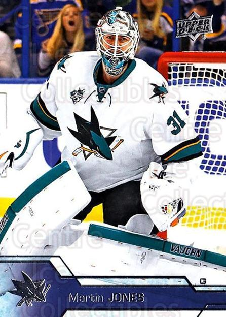 2016-17 Upper Deck #153 Martin Jones<br/>17 In Stock - $1.00 each - <a href=https://centericecollectibles.foxycart.com/cart?name=2016-17%20Upper%20Deck%20%23153%20Martin%20Jones...&quantity_max=17&price=$1.00&code=685788 class=foxycart> Buy it now! </a>