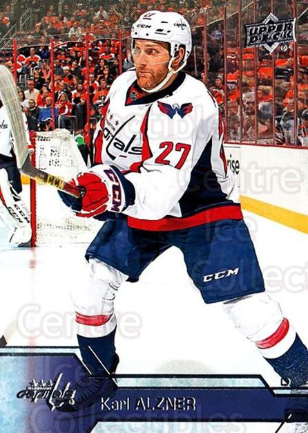 2016-17 Upper Deck #189 Karl Alzner<br/>14 In Stock - $1.00 each - <a href=https://centericecollectibles.foxycart.com/cart?name=2016-17%20Upper%20Deck%20%23189%20Karl%20Alzner...&quantity_max=14&price=$1.00&code=685824 class=foxycart> Buy it now! </a>