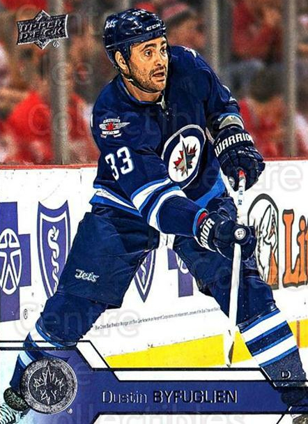 2016-17 Upper Deck #195 Dustin Byfuglien<br/>15 In Stock - $1.00 each - <a href=https://centericecollectibles.foxycart.com/cart?name=2016-17%20Upper%20Deck%20%23195%20Dustin%20Byfuglie...&quantity_max=15&price=$1.00&code=685830 class=foxycart> Buy it now! </a>