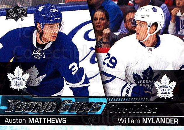 2016-17 Upper Deck #250 Auston Matthews, William Nylander<br/>2 In Stock - $10.00 each - <a href=https://centericecollectibles.foxycart.com/cart?name=2016-17%20Upper%20Deck%20%23250%20Auston%20Matthews...&quantity_max=2&price=$10.00&code=685885 class=foxycart> Buy it now! </a>