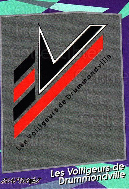 1993-94 Drummondville Voltigeurs #1 Header Card, Checklist<br/>4 In Stock - $3.00 each - <a href=https://centericecollectibles.foxycart.com/cart?name=1993-94%20Drummondville%20Voltigeurs%20%231%20Header%20Card,%20Ch...&price=$3.00&code=6870 class=foxycart> Buy it now! </a>