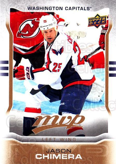 2014-15 Upper Deck MVP #50 Jason Chimera<br/>2 In Stock - $1.00 each - <a href=https://centericecollectibles.foxycart.com/cart?name=2014-15%20Upper%20Deck%20MVP%20%2350%20Jason%20Chimera...&quantity_max=2&price=$1.00&code=687254 class=foxycart> Buy it now! </a>