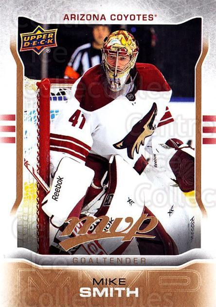 2014-15 Upper Deck MVP #86 Mike Smith<br/>2 In Stock - $1.00 each - <a href=https://centericecollectibles.foxycart.com/cart?name=2014-15%20Upper%20Deck%20MVP%20%2386%20Mike%20Smith...&quantity_max=2&price=$1.00&code=687290 class=foxycart> Buy it now! </a>