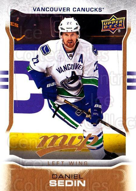 2014-15 Upper Deck MVP #220 Daniel Sedin<br/>1 In Stock - $3.00 each - <a href=https://centericecollectibles.foxycart.com/cart?name=2014-15%20Upper%20Deck%20MVP%20%23220%20Daniel%20Sedin...&quantity_max=1&price=$3.00&code=687424 class=foxycart> Buy it now! </a>