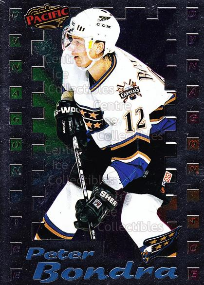 1998-99 Pacific Insert Dynagon Ice #19 Peter Bondra<br/>6 In Stock - $2.00 each - <a href=https://centericecollectibles.foxycart.com/cart?name=1998-99%20Pacific%20Insert%20Dynagon%20Ice%20%2319%20Peter%20Bondra...&quantity_max=6&price=$2.00&code=68779 class=foxycart> Buy it now! </a>